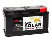 Langzeit Solarbatterie AGM 12V 90AH