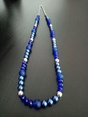 Halskette aus Glasperlen Handarbeit