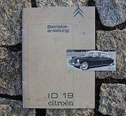 Betriebsanleitung Citroen ID 19 1961