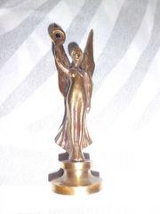 Friedensengel Bronzefigur Messing ca 15