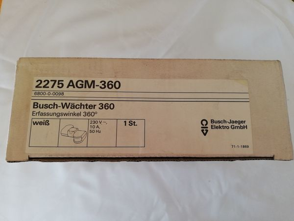Busch-Jaeger-Wächter 2275 AGM-360 weiß 360°