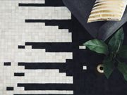 Teppich schwarz-beige 80 x 150