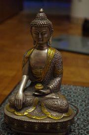 Buddha Silber Gold Statue Skulptur