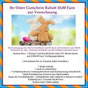 Rabatt-Gutschein 10 EUR zur Verrechnung
