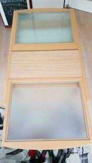 Esstisch ausziehbar Glas Holz Metallfüßen
