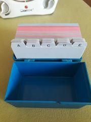 Karteikarten-Set mit Alphabet DIN A7