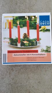 NEU Adventsteller mit 4 Kerzenhaltern