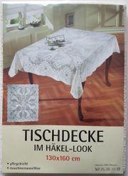 Tischdecke Häkellook ca 130 x