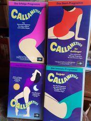 Callanetics VHS Videokassetten 4 verschiedene