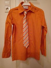 Kinderhemd Gr 140 mit Krawatte