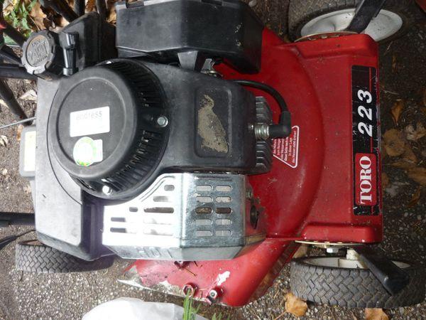 Toro 223 Zweitakt Benzin Rasenmäher