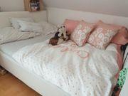 Französisches Bett 140x200cm Lederimitat