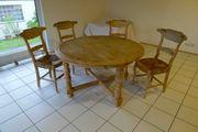 Esstisch und 4 Stühle Landhausstil