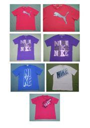 5 Marken-T-Shirts von Puma Nike