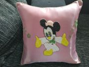Kissen mit Perlenmotiv Minnie Maus