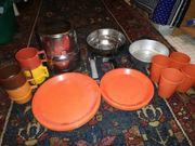 Camping Geschirr für 4 Personen