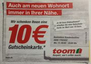 toom Gutschein 20 EUR 10EUR