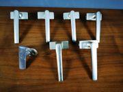 7 Stück Fenstergriff Aluminium Silber