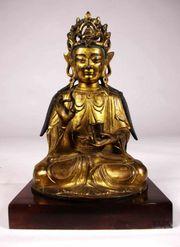 Antique Chinese Tibet Bronze Gilt
