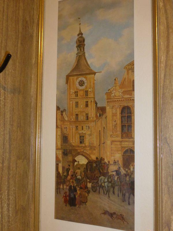Wandbild Postkutsche von Spitzweg Kunstdruck