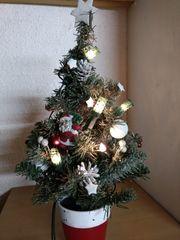 Weihnachtsbäumchen mit Lichtern