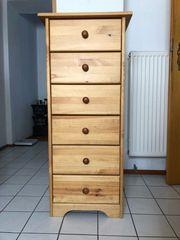Kommode Schränkchen - Holz mit 6