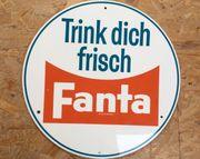 Orig Holzschild 1960er Trink Dich