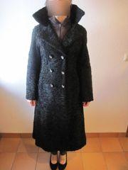 Damenmantel schwarz Lammfellmantel v Karakulschaf