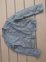 Lederjacke Mädchen dunkelblau Gr 152
