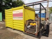 Container Baucontainer Materialcontainer mit Abrollvorrichtung