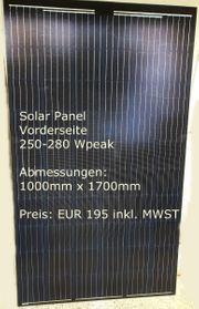 Solarpanel mit Konverter zum Anschluss