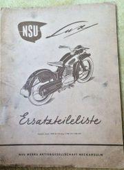 NSU Lux Ersatzteileliste 1954 ab