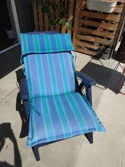 Gartenstuhl Sonnenstuhl Klappstuhl mit Auflage