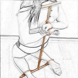Erotikshop/-artikel - Edelstahl Bondage-Vorrichtung verstellbar Neu