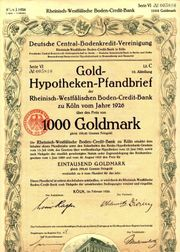 10 Historische Wertpapiere Dt Reich