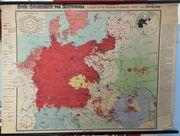 Wandkarte Sprachen in Mitteleuropa in
