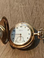 Alpina Chronograph Taschenuhr Goldgehäuse 585