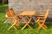 Gartensitzgruppe Tisch mit 4 Stühle