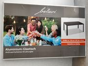 Aluminium Garten- Glasstisch