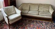 Sofa Eleganter 3-Sitzer und Sessel