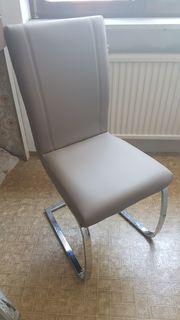 4 Esszimmer Stühle cappuccinofarben