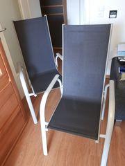 2 Gartenstühle Verhandlungssache Aluminiu-Stappelsessel mit