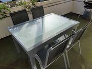 Ausziehbarer Gartentisch 4 Stühle