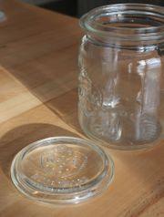 45 Einweckgläser 1l mit Glasdeckel
