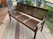 Gartenbank Eukalyptus Holz 3 - Sitzer