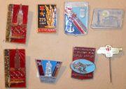 Sehr alte russische Anstecker Anstecknadeln