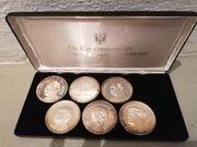 Sammlung 6 Grosse Medaillen Feinsilbe
