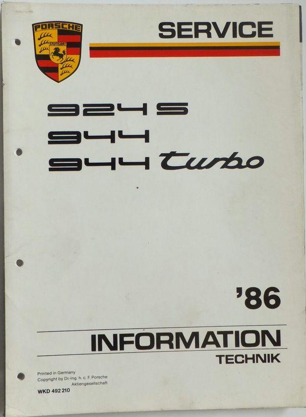 PORSCHE 924 S 944 Turbo