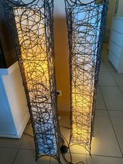 Braune deko Stehlampen aus Holz