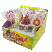 FRUIT HEART SHAPED LOLLIPOP SWEETS